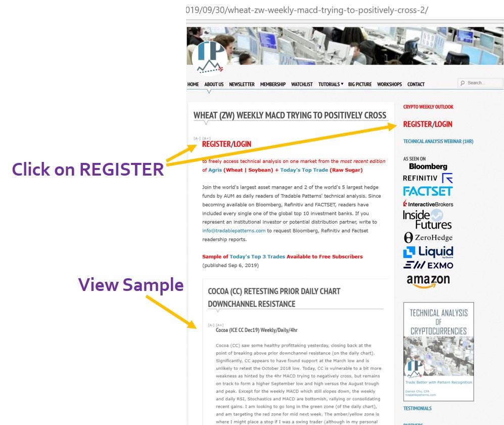 Click on Register/Login