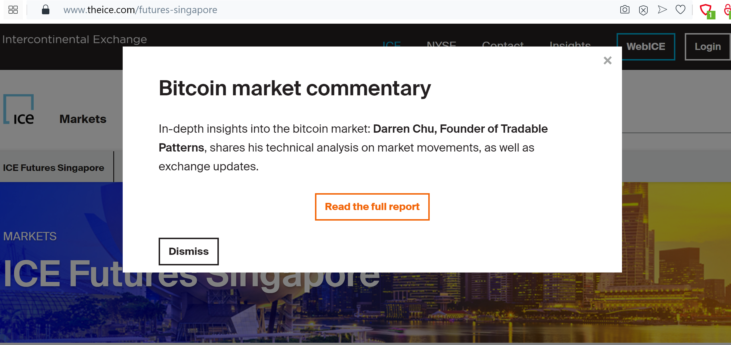ICE Futures Singapore Bitcoin Biweekly Commentary